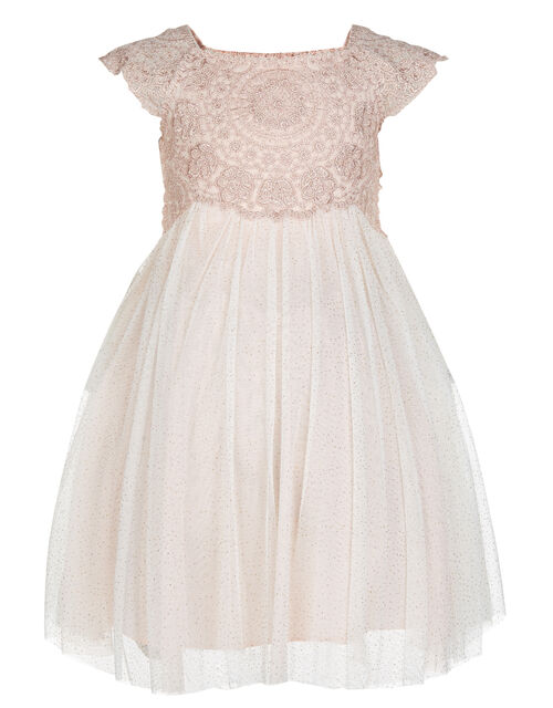 Baby Estella Crochet Bodice Dress, Pink (PINK), large