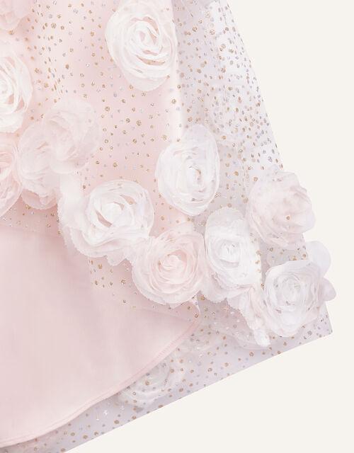 Sparkle 3D Flower Dress, Pink (PINK), large