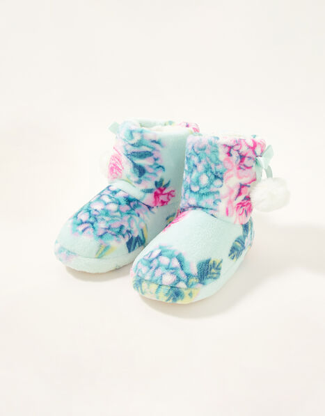 Hydrangea Slipper Boots Blue, Blue (AQUA), large