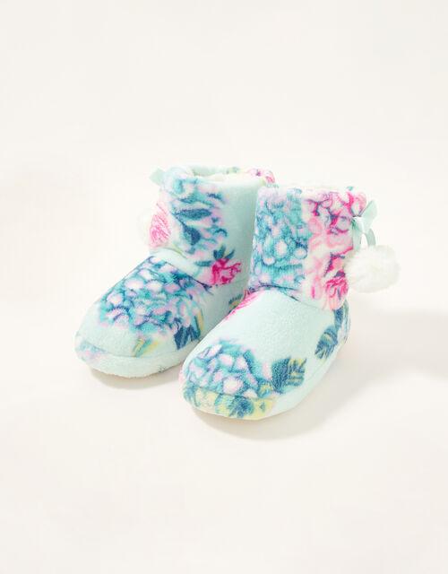 Hydrangea Slipper Boots, Blue (AQUA), large
