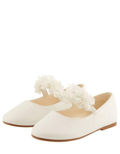 Baby Cynthia Corsage Walker Shoes Ivory, Ivory (IVORY), large