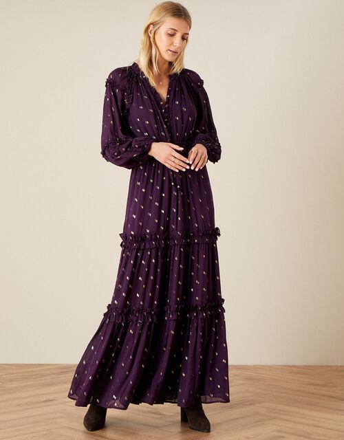 Adena Maxi Dress, Purple (PURPLE), large