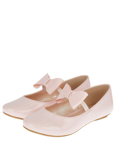 Patent Bow Ballerina Flats Pink, Pink (PINK), large