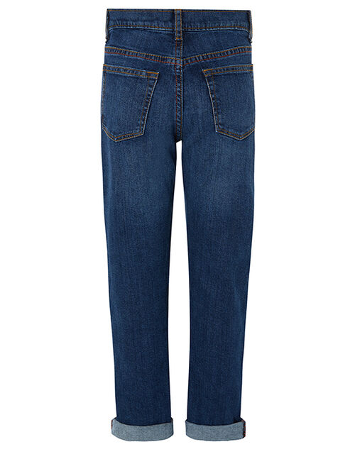 James Straight Leg Jeans, Blue (NAVY), large