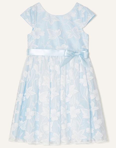 Floral Lace Dress  Blue, Blue (BLUE), large