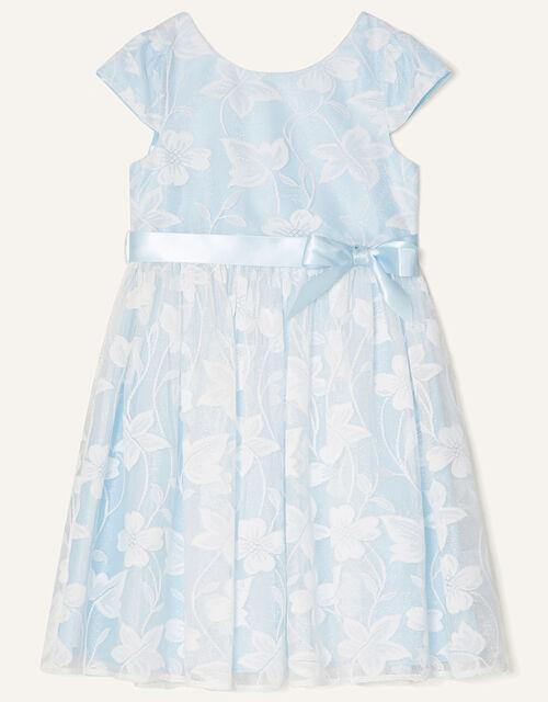 Floral Lace Dress , Blue (BLUE), large