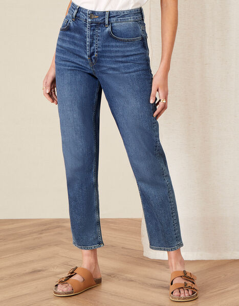 Straight Leg Jeans  Blue, Blue (DENIM BLUE), large
