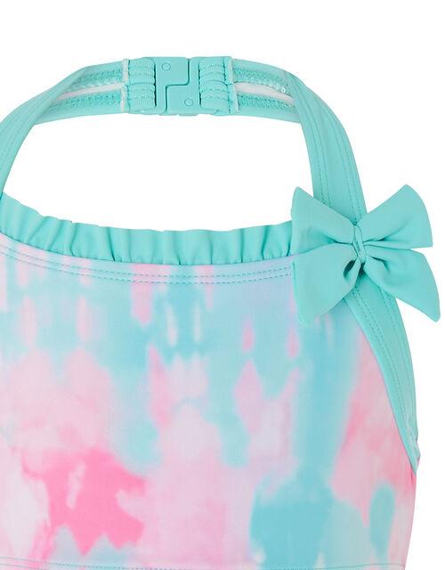 Tie-Dye Halter Bikini Set, Pink (PINK), large