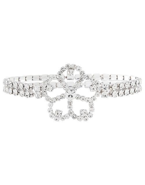 Sparkle Flower Stretch Bracelet, , large