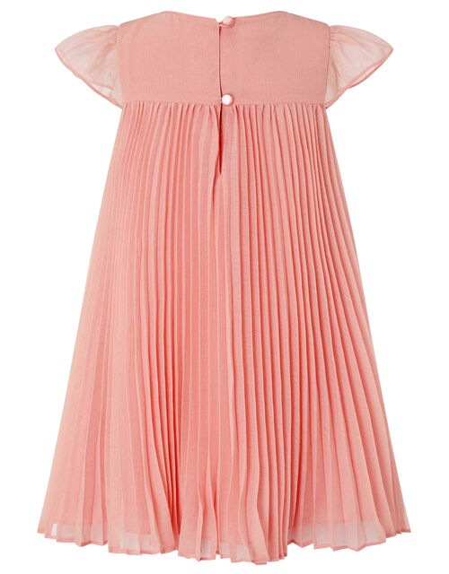 Baby Polly Sequin Pleated Dress, Pink (DUSKY PINK), large