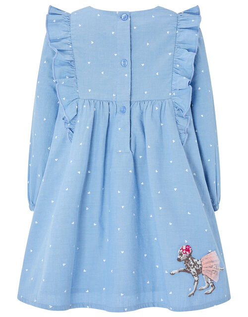 Baby Dina Chambray Dress, Blue (BLUE), large