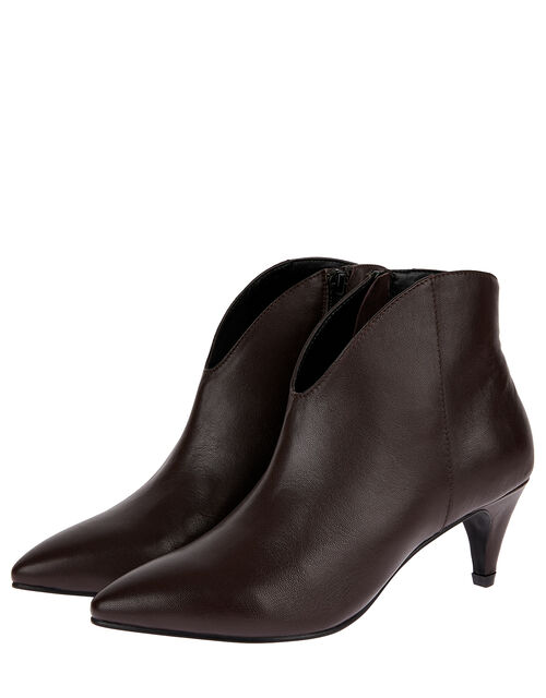 Low Vamp Suede Ankle Boots, Red (BURGUNDY), large