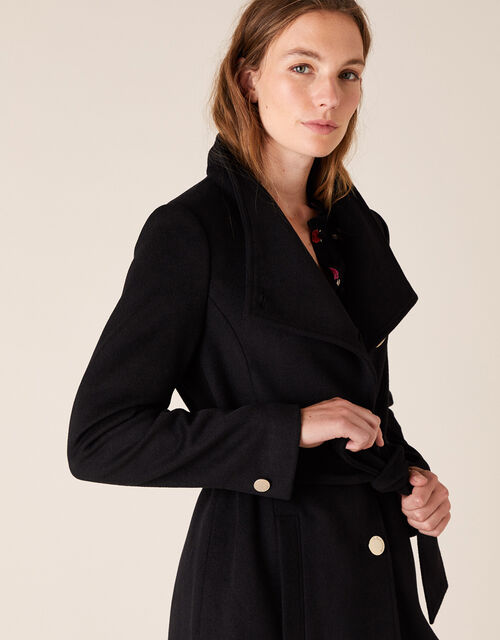Ruby Long Coat, Black (BLACK), large