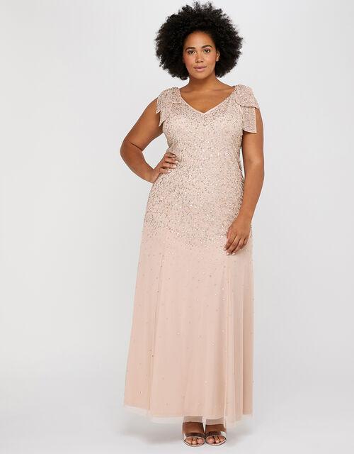 Molly Scatter Embellished Maxi Dress, Pink (BLUSH), large