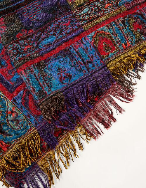 Jewel Jacquard Blanket Scarf, , large
