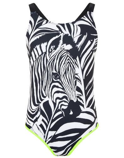 Zebra Print Swimsuit Black, Black (BLACK), large