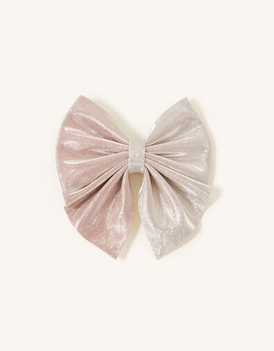 Ombre and Glitter Bow Hair Clip, , large