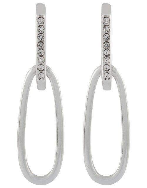 Diamante Oval Earrings, , large