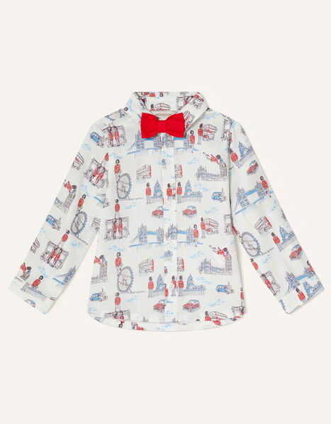 London Guard Shirt and Bow Tie Ivory, Ivory (IVORY), large