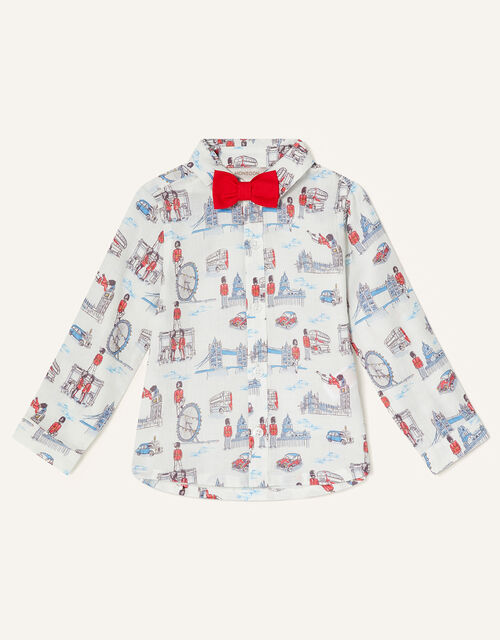 London Guard Shirt and Bow Tie, Ivory (IVORY), large