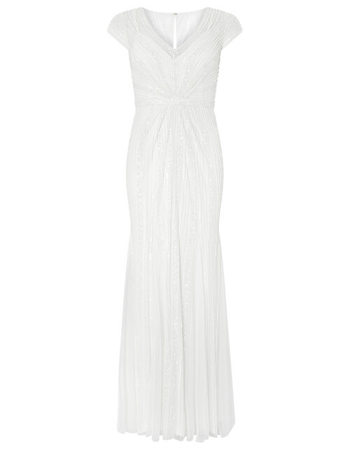 Nora Bridal Embellished Maxi Dress, Ivory (IVORY), large