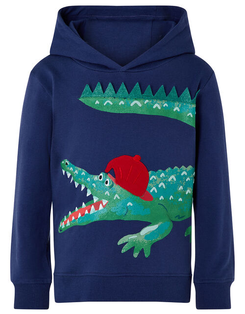 Crocodilly Hoody, Blue (NAVY), large