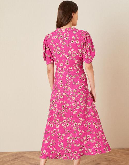 Sonya Floral Shirt Dress, Pink (PINK), large