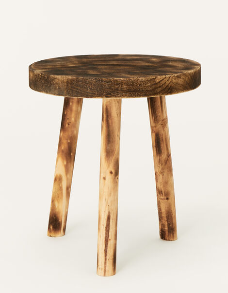 Small Tripod Wooden Stool, , large