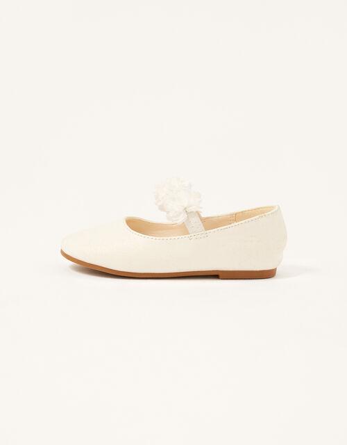 Corsage Shimmer Walker Shoes, Ivory (IVORY), large