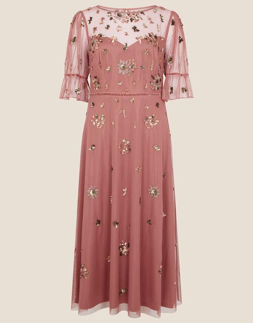 Roxanne Embellished Midi Dress, Pink (ROSE), large