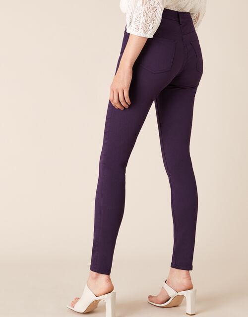 Nadine Regular Length Jeans with Organic Cotton, Purple (PLUM), large