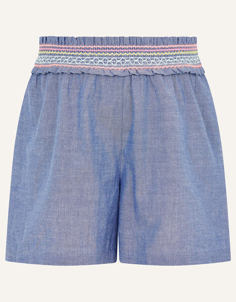 Fiesta Chambray Shorts  Blue, Blue (BLUE), large