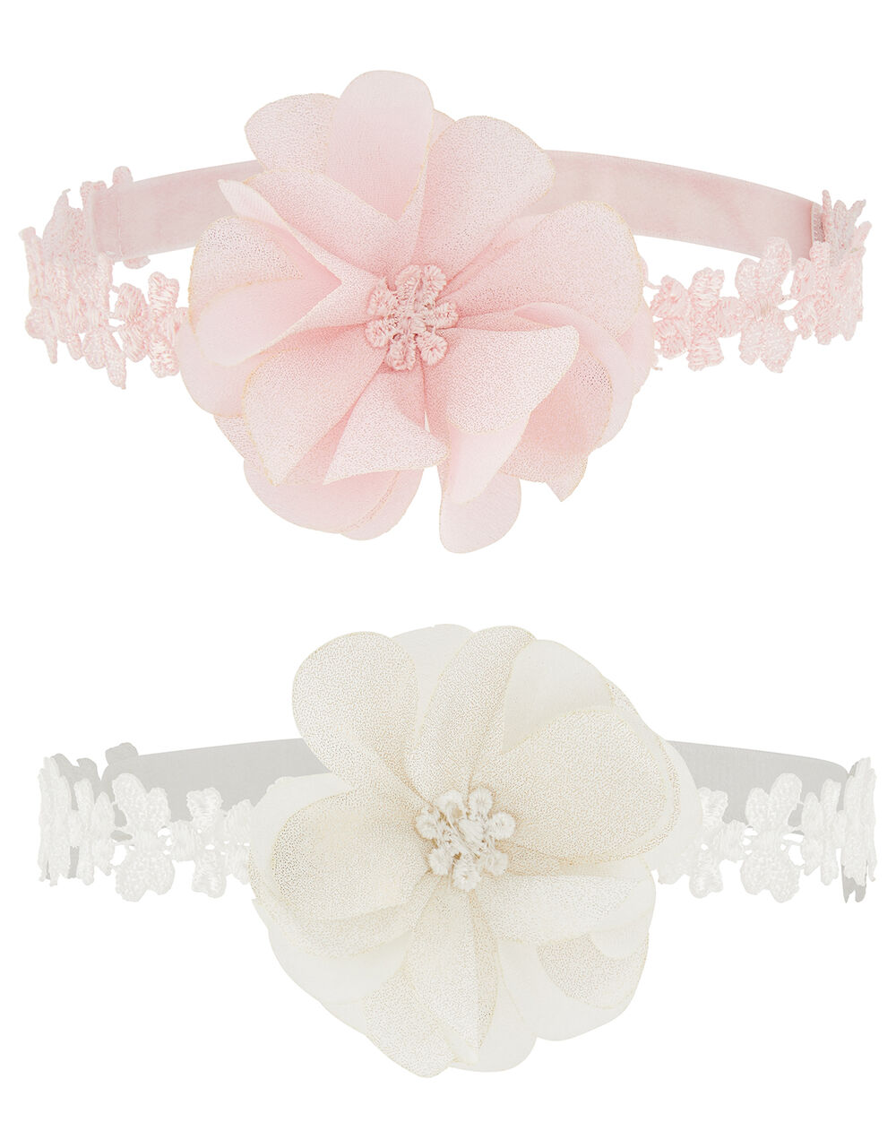 Baby Shimmery Flower Bando Set, , large