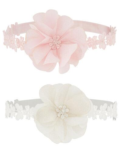 Baby Shimmery Flower Bando Set, , large