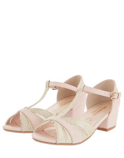 T-Bar Open Toe Charleston Heels, Pink (PINK), large