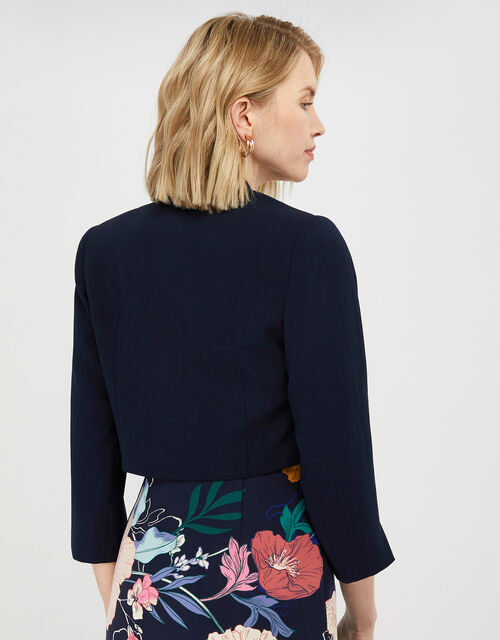 Juni Cropped Jacket, Blue (NAVY), large