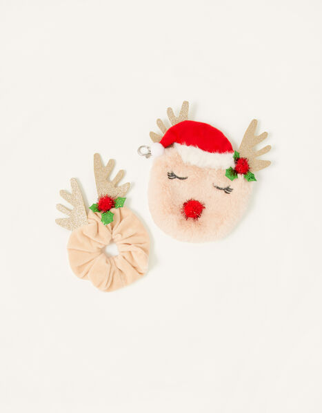 Reindeer Purse and Scrunchie, , large