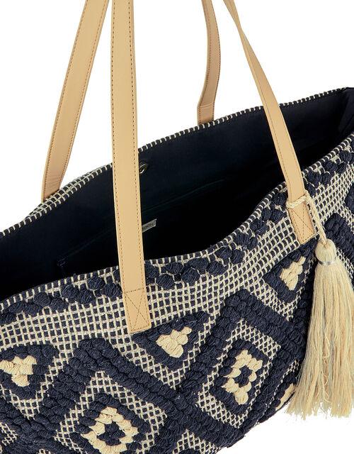 Cotton Weave Shopper Bag, , large