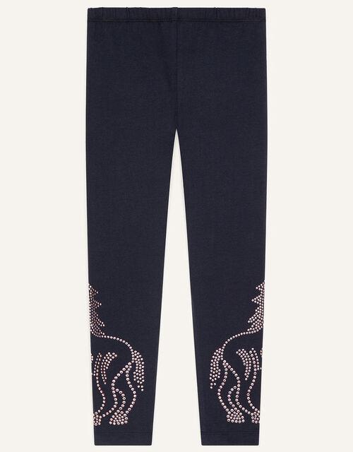 Unicorn Stud Leggings , Blue (NAVY), large