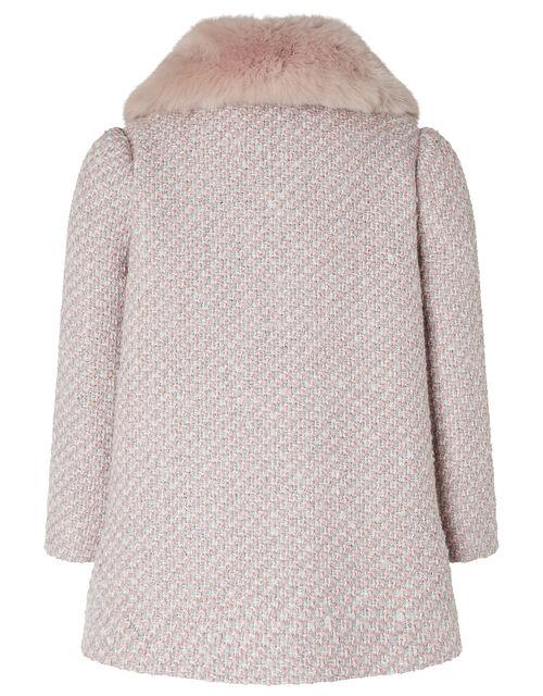 Baby Tweed Coat, Pink (PINK), large