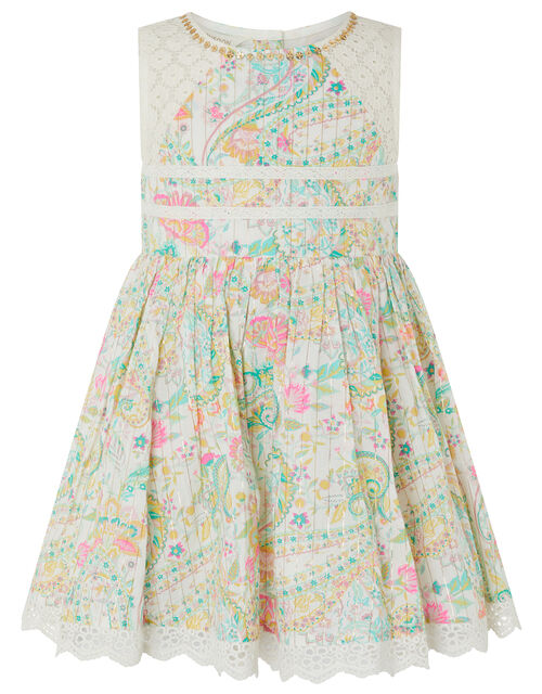 Baby Maya Paisley Print Dress, Ivory (IVORY), large