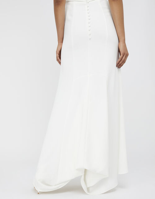 Leonora Bridal Crepe Lace Maxi Dress, Ivory (IVORY), large