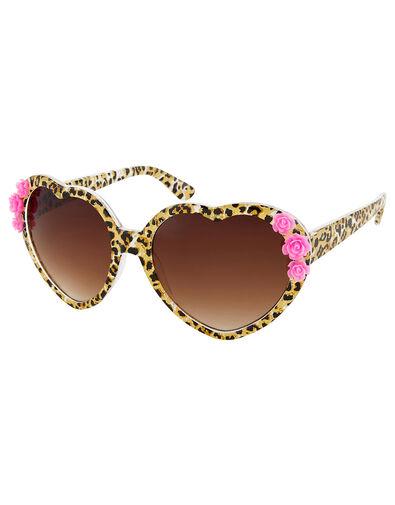 Leopard Heart Sunglasses, , large