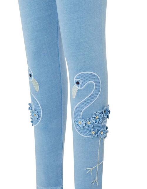 Flamingo Garment Dye Leggings, Blue (BLUE), large