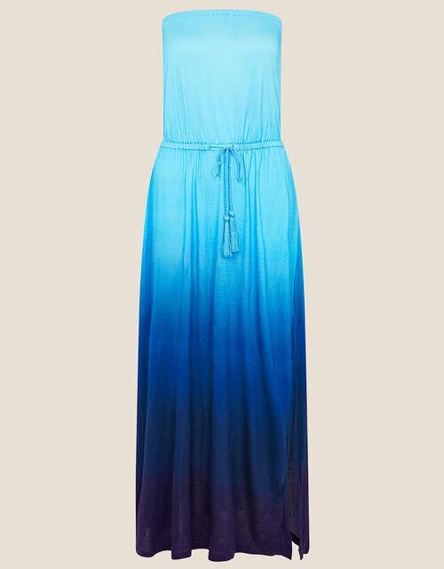 Ombre Bandeau Dress in LENZING™ ECOVERO™, Purple (PURPLE), large