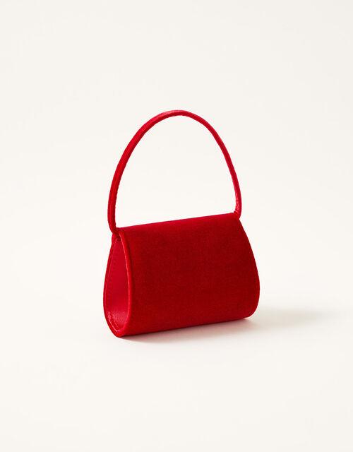Velvet Pom-Pom Mini Bag , , large
