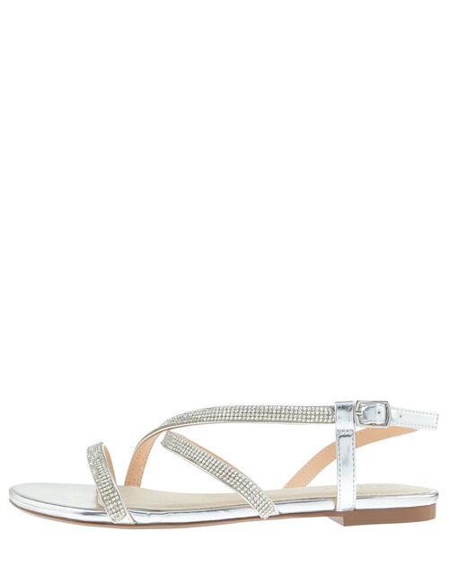 Trixie Crystal Sandals, Silver (SILVER), large