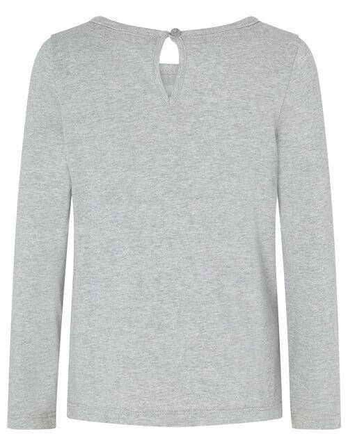 Sequin Swan Long-Sleeve T-shirt, Grey (GREY), large