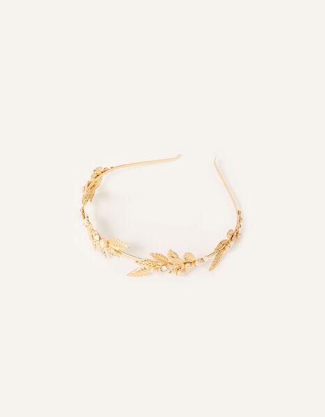 Leafy Metal Headband, , large