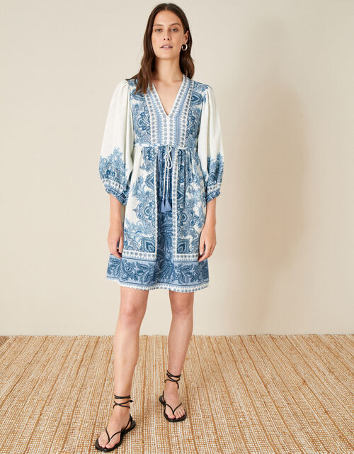 Roxanna Kaftan Midi Dress, Blue (BLUE), large